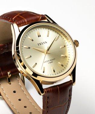 TELVA テルバ アナログウオッチ メンズ 本革 腕時計【TE-AM032】
