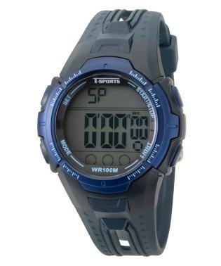 T-SPORTS ティースポーツ デジタルウオッチ 10年電池 10気圧防水 腕時計【TS-D229】