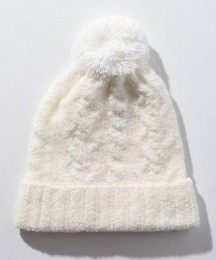 ケーブルマシュマロ帽