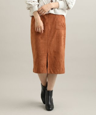 ライトエコスエードタイトスカート