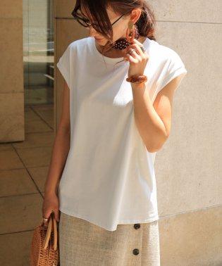綿ストレッチオーバーサイズノースリーブTシャツトップス