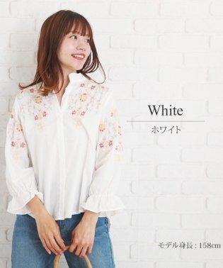 花柄デザインシャツ 韓国 ファッション レディース ブラウス シャツ 涼しい 夏 サマー 可愛い かわいい フラワー【S/S】【ra-2083】