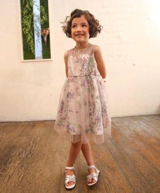 花柄チュール重ねドレス(KIDS)