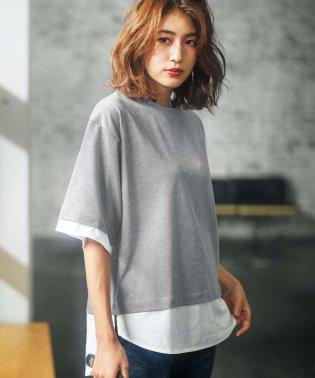 レイヤードデザインチュニックTシャツ