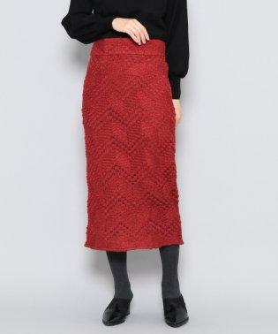 【SENSEOFPLACE】ジャガードレースタイトスカート