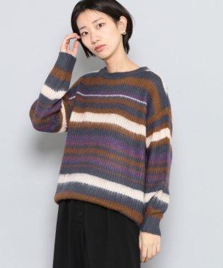 【SENSEOFPLACE】マルチボーダールーズセーター