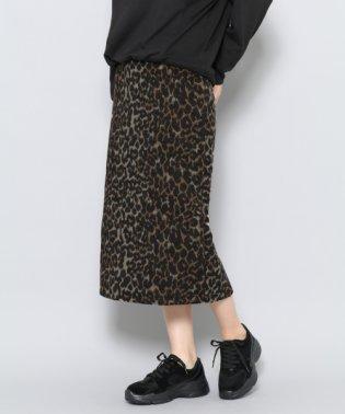 【SENSEOFPLACE】レオパードアイラインスカート