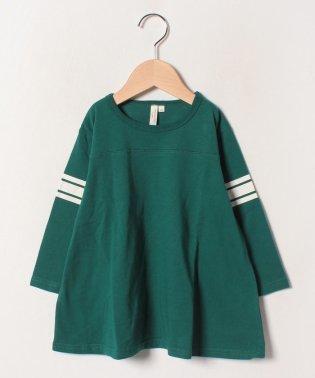 袖ラインフレア7分袖Tシャツ