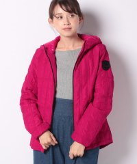 WOMAN WOVEN PADDED SHORT OVERCOAT