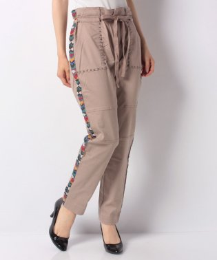 WOMAN WOVEN LONG TROUSERS