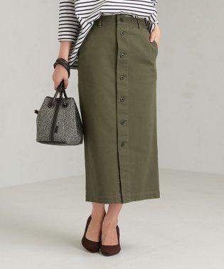 SC コットン チノ フロント ボタン スカート