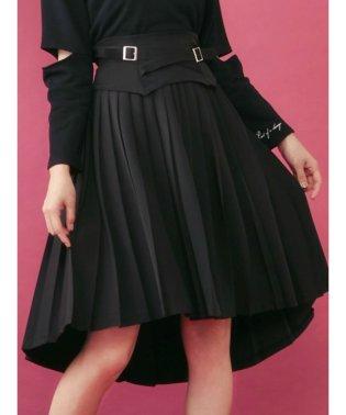 2WAYベルテッドプリーツスカート