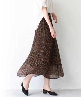 小花柄プリントプリーツスカート
