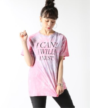 【BLOUSE/ブラウス】I CAN I WILL MUST TEE