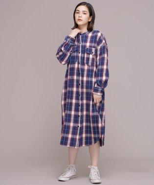 Lee/別注チェックシャツワンピース
