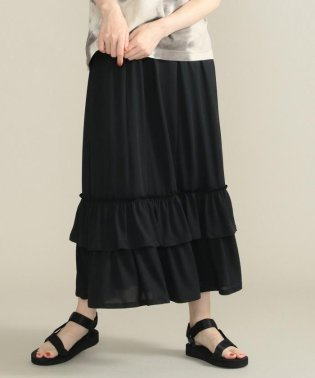 【洗える】天竺ティアード スカート