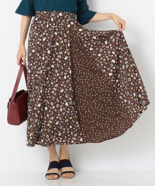 【洗える】MIX pattern プリント スカート