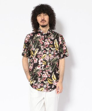 CREW(クルー)ジャージアロハS/S ボタンダウンシャツ