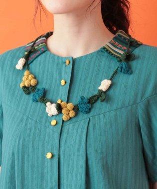 かぎ編みモチーフネックレス