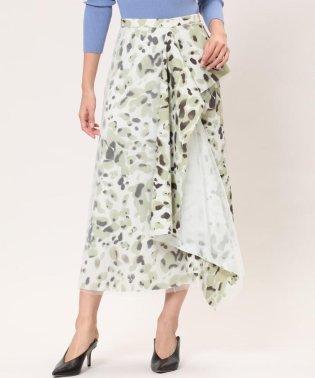 《Luftrobe》ぼかし迷彩アシメスカート《Viscotecs》