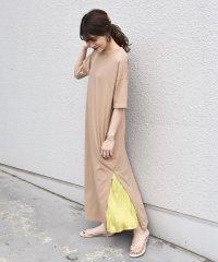 otonaMUSE×SHIPS プリーツスカート付きTEEシャツドレス