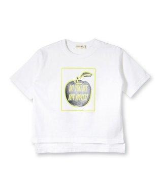 アップルプリント5分袖Tシャツ(90~150cm)