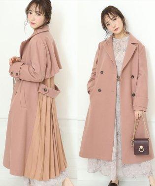 【美人百花12月号掲載】ダブル釦プリーツコート