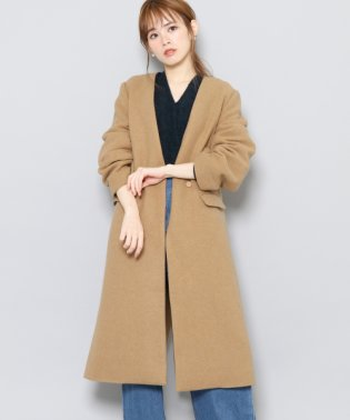【SENSEOFPLACE】ウールノーカラーコート