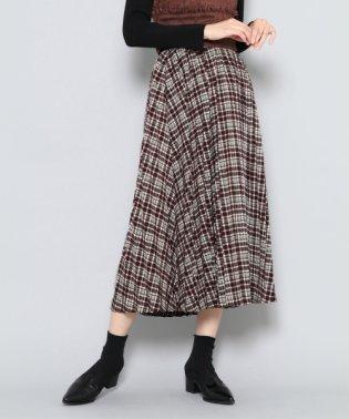 【SENSEOFPLACE】チェックプリーツスカート