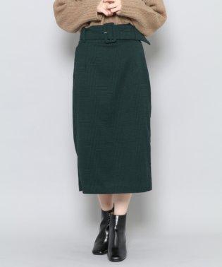 【SENSEOFPLACE】チェックアイラインスカート