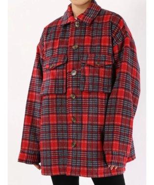 ウールライクシャツジャケット