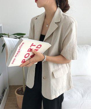 MICHYEORA(ミチョラ)【スペシャルプライス】半袖リネンジャケット-