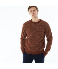 ツイードニットクルーネックセーター
