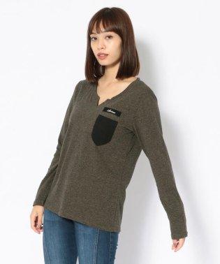 キーホールネック ポケットティーシャツ/KEY HOLE NECK POCKET T-SHIRT