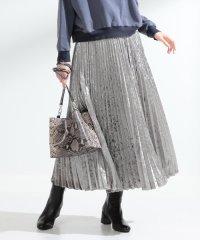 Ray BEAMS / ベロア プリーツ ロング スカート