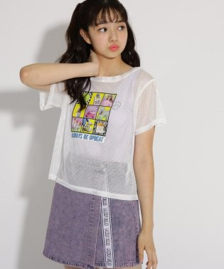 メッシュ転写 Tシャツ+タンクトップ セット