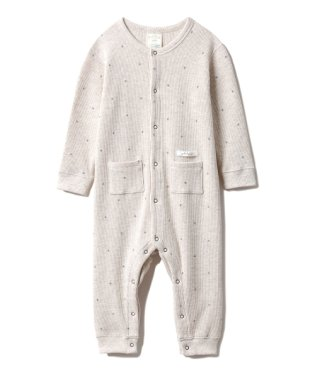 【BABY】スターワッフル baby ロンパース
