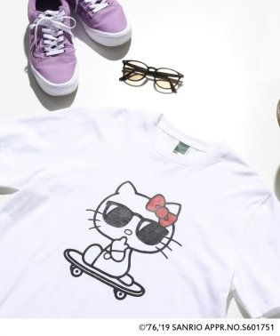 ハローキティ Hello Kitty 別注 サングラスプリント 半袖 Tシャツ