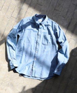BEAMS / カラーネップ ボタンダウン シャツ