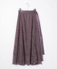 ウォッシャブルレースラップスカート