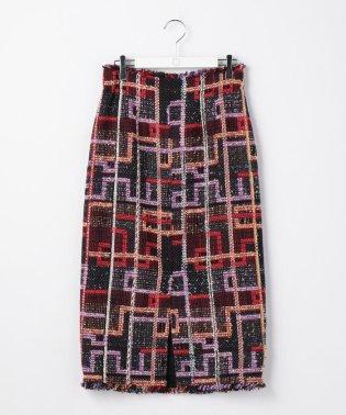 ファンシーツイードチェックタイトスカート