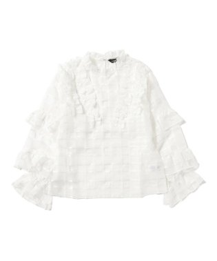 sister jane / Tenting Sheer Check Blouse