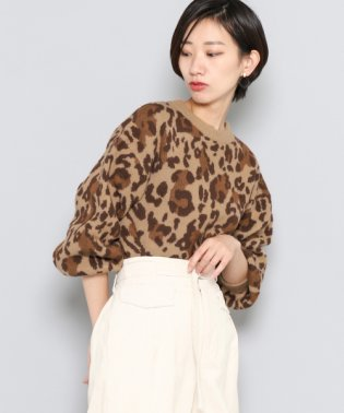【SENSEOFPLACE】レオパード柄セーター