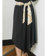 スカーフベルトアシメスカート