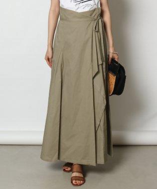 GRANDTABLE(グランターブル) 綿麻ラッフルラップスカート
