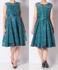 総スパンコールヨークオーガンジードレス