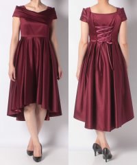 カシュクールバックスピンロングドレス