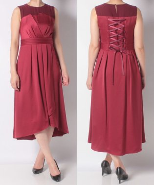 ヨークオーガンジーフィッシュテールロングドレス