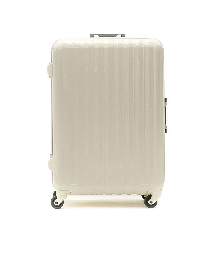 (BOUNDRIP/バウンドリップ)BOUNDRIP スーツケース バウンドリップ キャリーケース フレーム ストッパー 旅行 出張 70L 5泊 6泊 TSA BD55/ユニセックス アイボリー