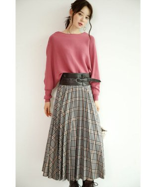 【STORY10月号掲載】ベルト付きフロントプリーツフレアスカート